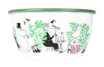 Muurla Moomin In the Garden enamel bowl 2l, green