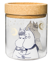 Muurla Moomin Winter Romance votive candle holder/ glass jar, 15,5cm/1,2L