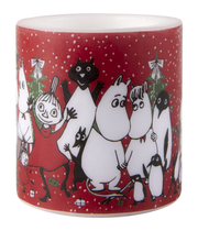 Muurla Moomin candle Winter Magic 8cm, red