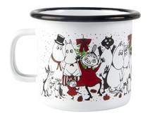 Muurla Moomin enamel mug 2,5 dl, Winter magic