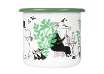 Muurla Moomin enamel mug 3,7dl In the Garden, green