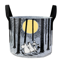 Muurla Moomin storage basket In the Forest, 30L, grey