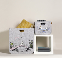 Muurla Originals Moomin decor basket Missing you, grey