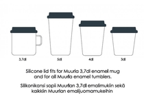 Muurla Take away silicone lid for an enamel mug