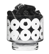 Muurla candle holder / glass bowl Vyyhti, clear/white