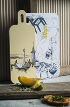 Muurla serving board Lighthouse island, 18x44cm, two-sided
