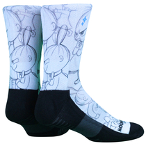 NVRLND adults' Moomin socks, Little My Sketch