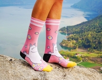 NVRLND adults' Moomin socks, Moomintroll light pink