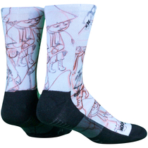 NVRLND adults' Moomin socks, Snifkin Sketch