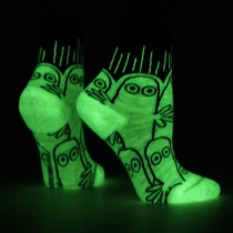 NVRLND children's glow in the dark Moomin socks, Hattifatteners