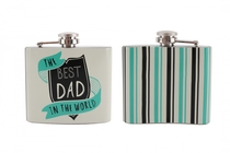 No. 1 DAD hip flask in a gift box