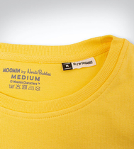 Nordicbuddies Stinky on the run sweatshirt, yellow