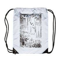 Piironki x Moomin Reflective drawstring gym bag, Moomin in the Forest