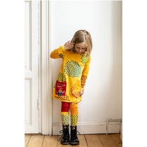 Pippi Longstockiing Drops Leggings, yellow