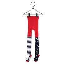 Pippi Longstocking Hejsan children's pantyhose, red/navy