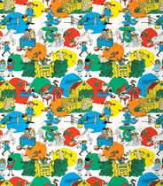 Pippi Longstocking in Villa Villekulla- duvet cover set 150x210cm