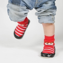 Pippi Longstocking shoes / socks for a child, red