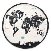 Play&Go Children's carpet play mat / toy bag The World Map