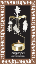 Pluto Produkter Moomin rotary candle holder Moomin family, white/gold