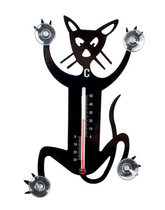 Pluto Produkter Thermometer Cat, black