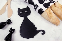 Pluto Produkter pan coaster, black cat