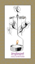 Pluto Produkter rotary candle holder, Cupido, silver