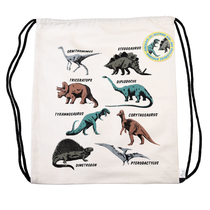 Prehistoric world drawstring bag