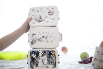 Rätt Start Moomin Jungle lunch box, purple/pink