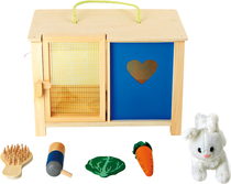 Rabbit cage with accessories