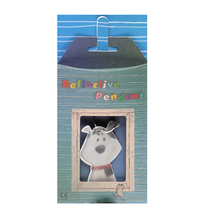 Reflector in a gift box Tails and whiskers, dog
