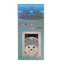 Reflector in a gift box Tails and whiskers, hedgehog