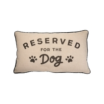 Reserved for the Dog pillow, beige