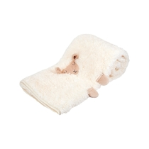 Sheep soft baby's blanket, white