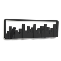 Skyline Multi Hook rack, black
