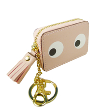 "Small ""Eyes"" purse/keychain, pink"