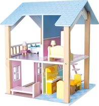 Small Foot® Nukkekoti, Blue Roof