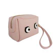 "Small wristlet handbag ""Eyes"", pink"