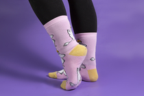 Snorkmaiden Idea women's socks, light pink