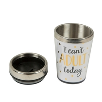 "Thermos flask 3,5 dl, ""I can't adult today"""