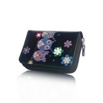 Three Wise Owls Short Purse - Black