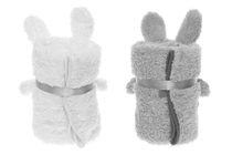 "Throw blanket children's ""Rabbit"", white or grey"