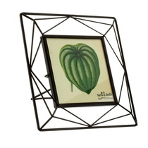 Trapeze photo frame square, black