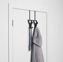 Umbra Buddy door rack with hooks, black