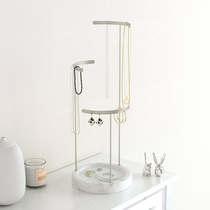 Umbra Tesora jewelry stand, marble/silver
