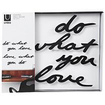 Umbra Wall Decor Mantra, black