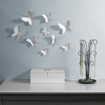 Umbra Wall Decor Mariposa 9pc, white