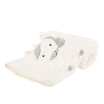 Unicorn soft baby's blanket, white