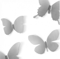 Wall Decor Mariposa metal, 9pc