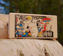 Wooden Moomin matchbox for two boxes, Comic 1